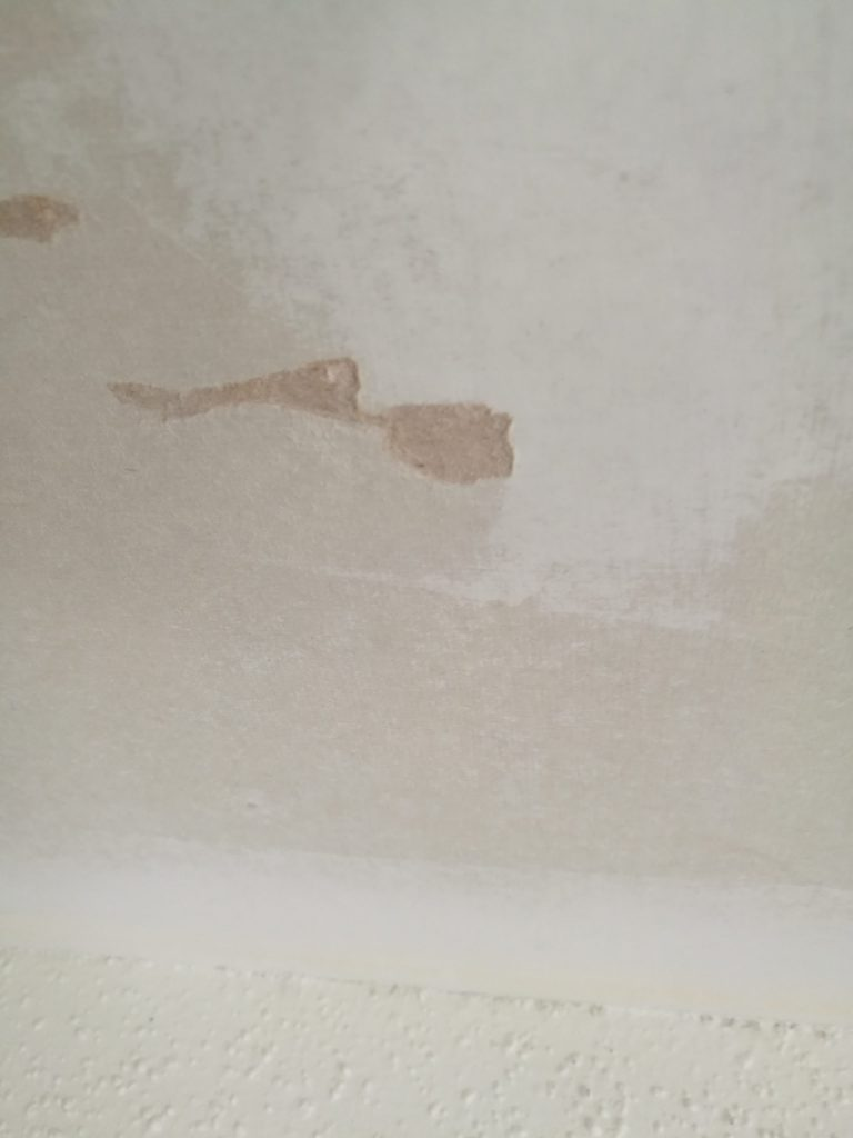 gouges in drywall ceiling