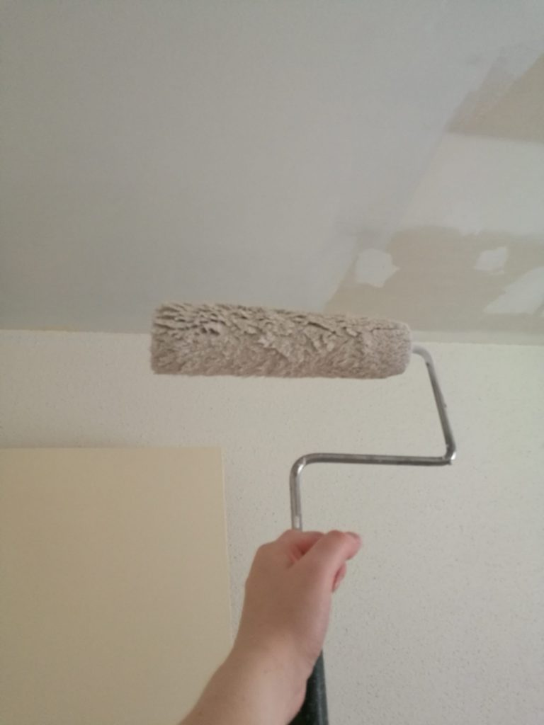Prime your patched ceiling
