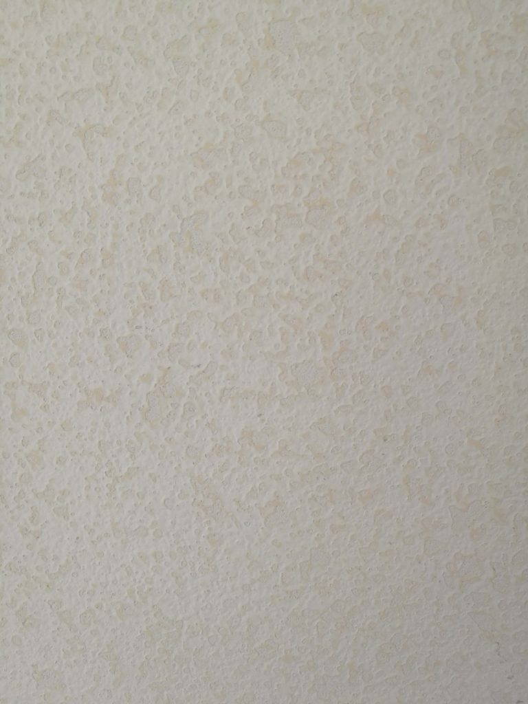Wall texture sanded