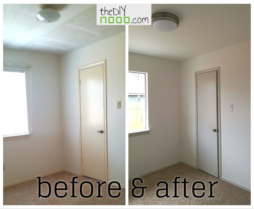 Bedroom reveal before and after