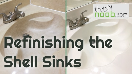 Refinishing shell sinks with a Tough as Tile kit