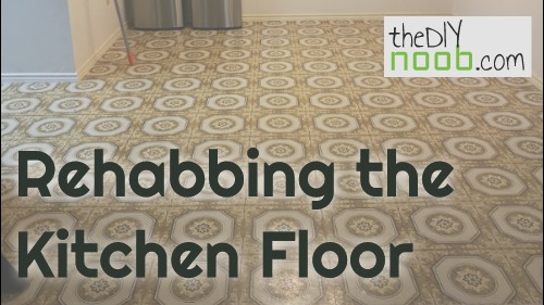 Rehabbing the Kitchen Floor – Removing Vinyl Tile and Adhesive