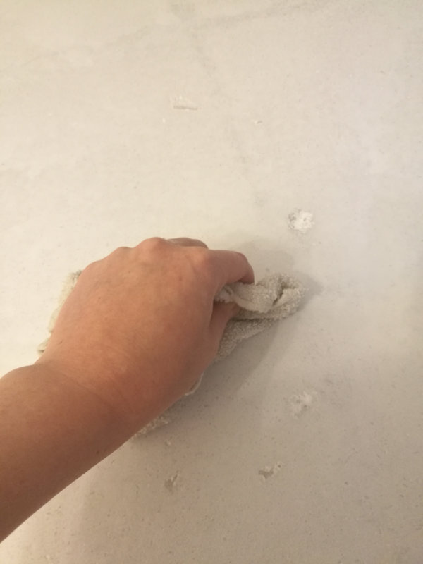 Faux painting to cover water stains