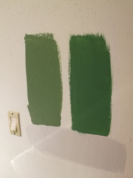 Laundry room week 2 color test